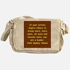 john quincy adams Messenger Bag