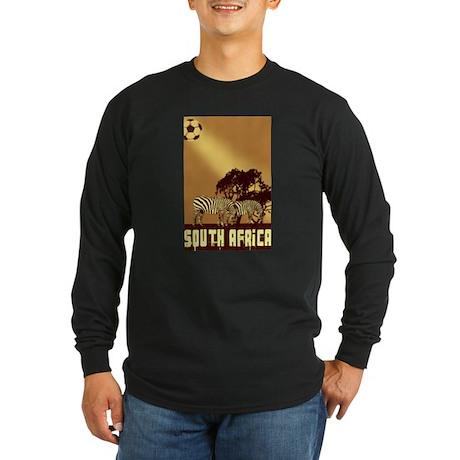 South African Zebras Long Sleeve Dark T-Shirt