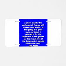 john adams Aluminum License Plate