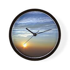 Mountain Sunset Sky - Wall Clock