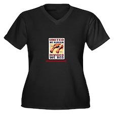 United Women's Plus Size V-Neck Dark T-Shirt