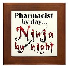 Pharmacist Ninja Framed Tile