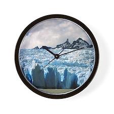 Blue Patagonian Glacier - Wall Clock