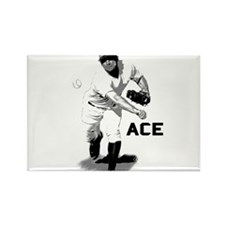 Baseball Ace Pitcher Rectangle Magnet
