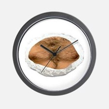 hairy chest Wall Clock