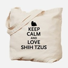 Keep Calm Shih Tzus Tote Bag