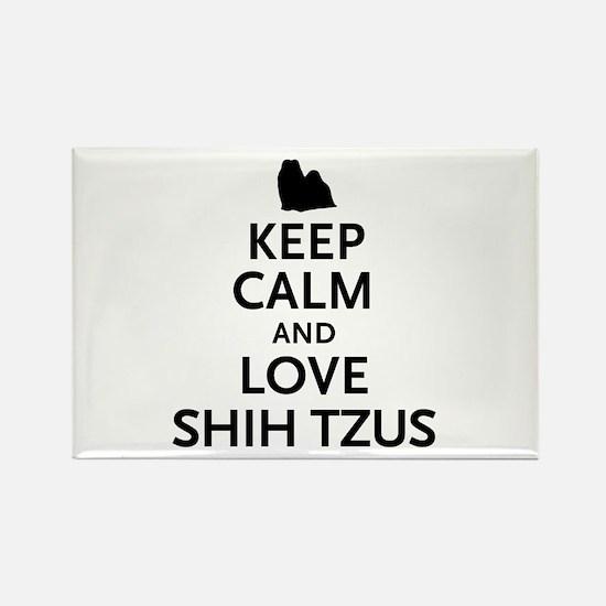 Keep Calm Shih Tzus Rectangle Magnet