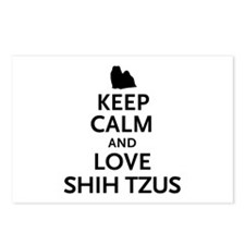 Keep Calm Shih Tzus Postcards (Package of 8)