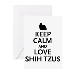 Keep Calm Shih Tzus Greeting Cards (Pk of 20)