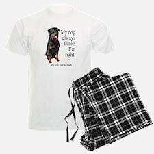 Rottie Vs Wife Pajamas