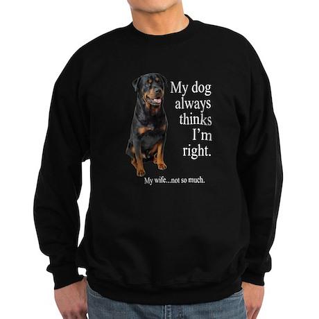 Rottie Vs Wife Sweatshirt (dark)