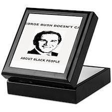 George Bush Doesn't Care Abou Keepsake Box