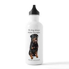 Rottie Vs Wife Water Bottle