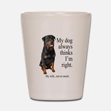 Rottie Vs Wife Shot Glass