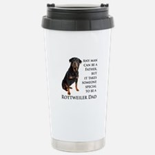 Rottie Dad Stainless Steel Travel Mug