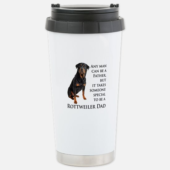 Rottie Dad Stainless Steel Travel Mug