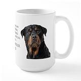 Rottie Large Mugs (15 oz)