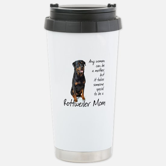 Rottweiler Mom Stainless Steel Travel Mug