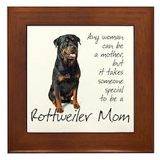Rottweiler Mom Framed Tile