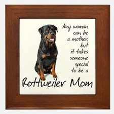 Rottweiler Mom Framed Tile