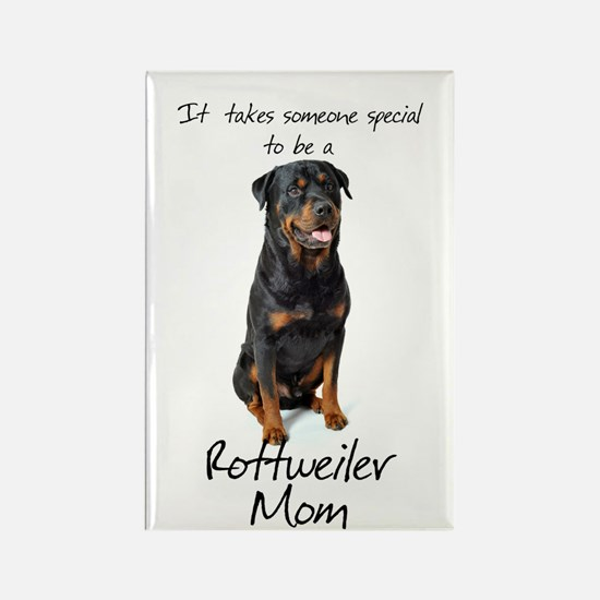 Rottweiler Mom Rectangle Magnet