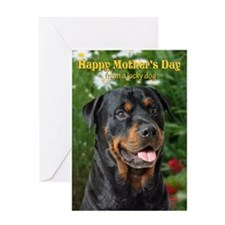 Rottweiler Mother's Day Card