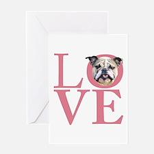 Love - Bulldog Greeting Card