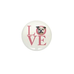Love - Bulldog Mini Button (10 pack)