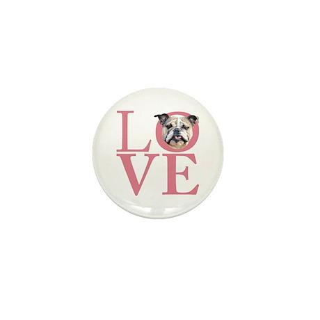 Love - Bulldog Mini Button (10 pack)