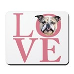 Love - Bulldog Mousepad