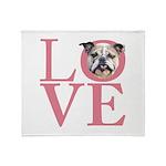 Love - Bulldog Throw Blanket