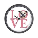 Love - Bulldog Wall Clock