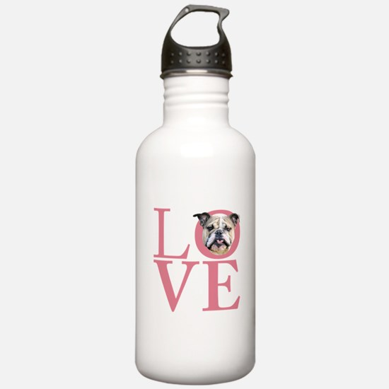 Love - Bulldog Water Bottle