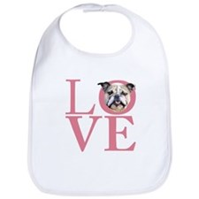 Love - Bulldog Bib