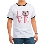 Love - Bulldog Ringer T