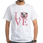 Love - Bulldog White T-Shirt