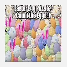 Easter Egg Puzzle Tile Coaster