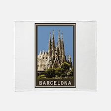 Barcelona Sagrada Familia Throw Blanket