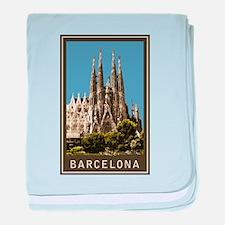 Barcelona Sagrada Familia baby blanket