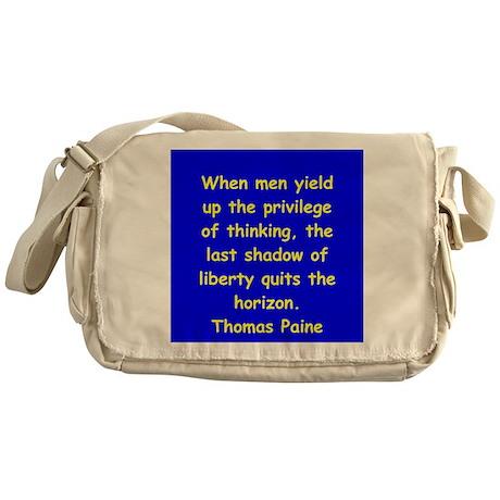 thomas paine Messenger Bag
