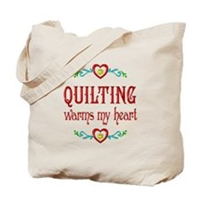 Quilting Warms My Heart Tote Bag