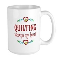 Quilting Warms My Heart Ceramic Mugs