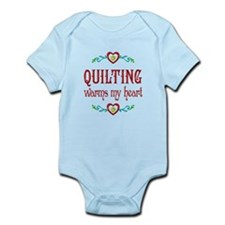 Quilting Warms My Heart Infant Bodysuit