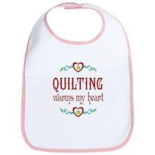 Quilting Warms My Heart Bib