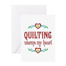 Quilting Warms My Heart Greeting Card
