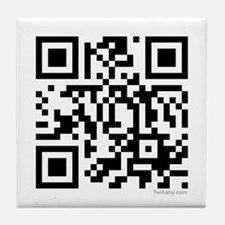 Team Edward QR Code Tile Coaster