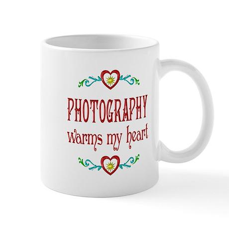 Photography Warms Hearts Mug