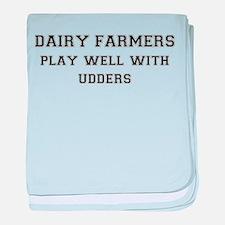 Dairy Farmers baby blanket