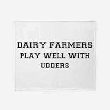Dairy Farmers Throw Blanket