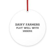 Dairy Farmers Ornament (Round)